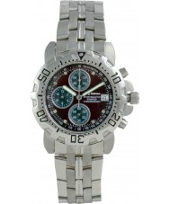 Krug Baümen 241269DM-BR Mens Sportsmaster Diamond Brown Dial