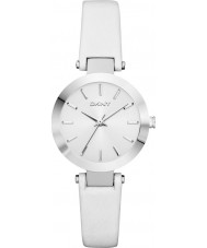 DKNY NY2403 Ladies Stanhope White Leather Strap Watch
