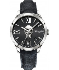 Thomas Sabo WA0210-218-203-43mm Mens Icon Skull Black Leather Strap Watch