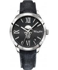 Thomas Sabo WA0210-218-203-43mm Mens Icon Skull Black Leather Strap Watch