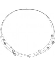 Skagen SKJ0402040 Ladies Agnethe Pearl Silver Tone Strands Necklace
