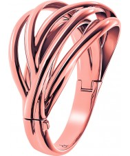 Calvin Klein Ladies Crisp Rose Gold Plated Bangle