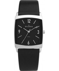 Skagen 691LSLB Mens Klassik Black Leather Strap Watch