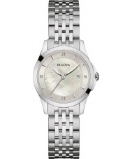 Bulova 96S160 Ladies Diamond Gallery Silver Steel Bracelet Watch