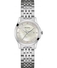 Bulova 96S160 Ladies Diamond Gallery Silver Steel Bracelet Watch