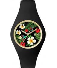Ice-Watch ICE.FL.PAR.S.S.15 Ladies Ice-Flower Black Silicone Strap Small Watch