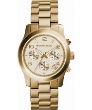Michael Kors MK5055 Ladies Runway Gold Chronograph Watch