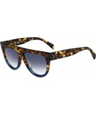 Celine Ladies CL 41026-S FU9 DV Tortoise Blue Sunglasses