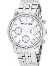 Michael Kors MK5020 Ladies Ritz Silver Steel Chronograph Watch