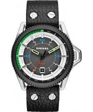 Diesel DZ1717 Mens Roll Cage Black Leather Strap Watch