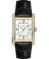Rotary LS00166-22 Ladies Croco Black Leather Strap Watch