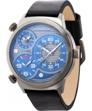 Police 14542JSU-13 Mens Elapid Black Leather Strap Watch