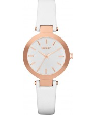DKNY NY2405 Ladies Stanhope White Leather Strap Watch