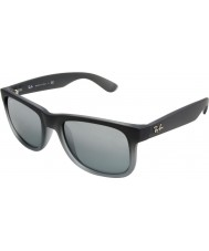 Ray-Ban RB4165 55 Justin Rubber Grey 852-88 Sunglasses
