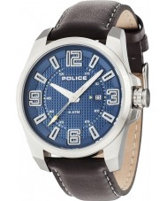 Police 14762JS-03 Mens Focus Brown Leather Strap Watch