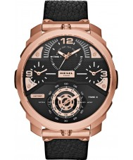 Diesel DZ7380 Ladies Machinus Black Leather Chronograph Watch