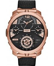 Diesel DZ7380 Ladies Machinus Black Leather Chronograph Watch