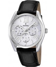 Festina F16752-1 Black Leather Strap Multifunction Watch