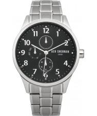 Ben Sherman WB004BM Mens Black and Steel Bracelet Watch