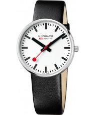 Mondaine A660-30328-11SBB Evo Giant Black Leather Strap Watch