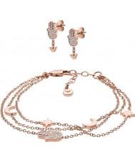 Emporio Armani EGS2697221 Ladies Bracelet and Earrings Gift Set