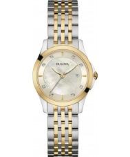 Bulova 98S148 Ladies Diamond Two Tone Steel Bracelet Watch