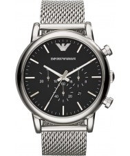 Emporio Armani AR1808 Mens Classic Chronograph Silver Mesh Bracelet Watch