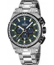 Festina F16968-3 Mens Chrono Bike Silver Steel Chronograph Watch