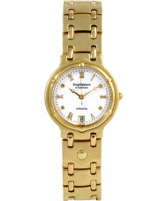 Krug-Baumen 5116DM Charleston 4 Diamond White Dial Gold Strap