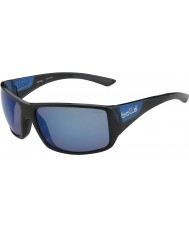 Bolle Tigersnake Shiny Black Matte Blue Polarized Offshore Blue Sunglasses