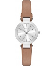 DKNY NY2406 Ladies Stanhope Brown Leather Strap Watch