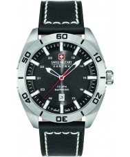 Swiss Military 6-4282-04-007 Mens Champ Black Leather Strap Watch