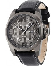Police 14762JSU-61 Mens Focus Black Leather Strap Watch