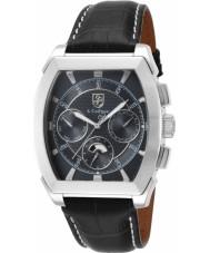 S Coifman SC0086 Mens Black Leather Strap Watch