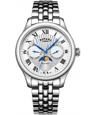 Rotary GB05065-01 Mens Timepieces Moonphase Silver Chronograph Watch