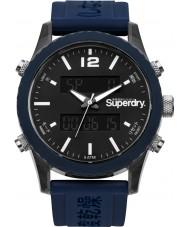 Superdry SYG206U Mens Tokyo Anadigi Blue Silicone Strap Watch