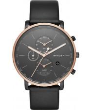 Skagen SKW6300 Mens Hagen Black Leather Strap Watch