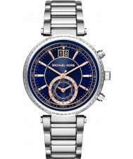Michael Kors MK6224 Ladies Sawyer Navy Blue Steel Chronograph Watch