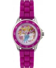 Disney Princess PN1078 Girls Princess Time Teacher Watch with Pink Silicone Strap