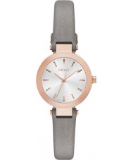DKNY NY2408 Ladies Stanhope Grey Leather Strap Watch
