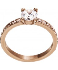 Edblad 3153441966-S Ladies Rome Maxi Rose Gold Plated Ring - Size N (S)