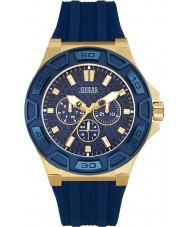 Guess W0674G2 Mens Force Blue Silicone Strap Watch