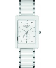 Roamer 690855-41-29-60 Ceraline Saphira Square White Ceramic Bracelet Watch
