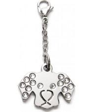 I Puppies PV-002 Dog Steel Crystal Medallion