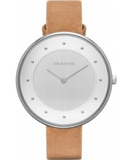 Skagen SKW2326 Ladies Gitte Light Brown Leather Strap Watch