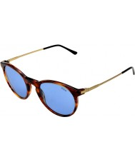 Polo Ralph Lauren PH4096 50 Classic Flair Striped Havana 500772 Sunglasses