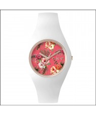 Ice-Watch ICE.FL.LUN.S.S.15 Ladies Ice-Flower White Silicone Strap Small Watch