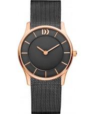 Danish Design Ladies Black Steel Mesh Bracelet Watch