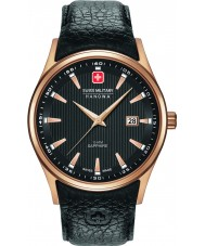 Swiss Military 6-4286-09-007 Mens Navalus Black Leather Strap Watch
