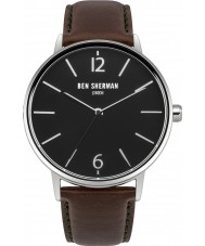 Ben Sherman WB059BRN Mens Portobello Brown Leather Watch with Interchangable Strap